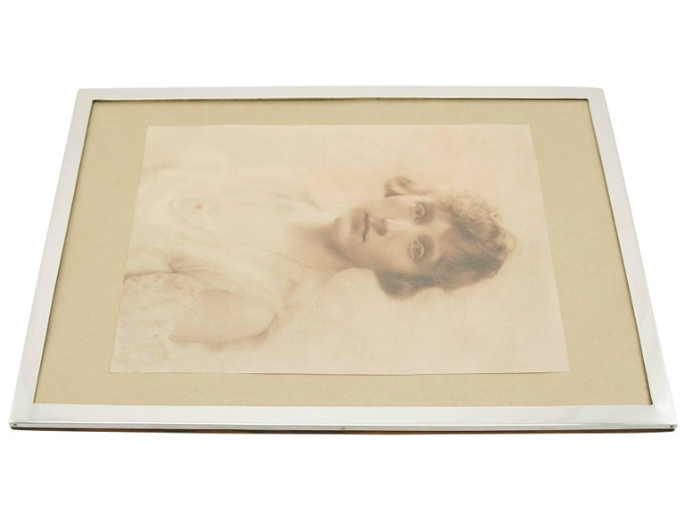 Antique 1910s Sterling Silver Photograph Frame For Sale 1