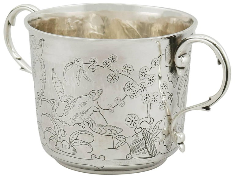 Early 20th Century Antique 1910s Sterling Silver Porringer by Lambert & Co For Sale