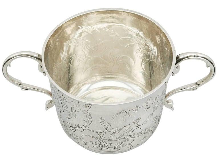Antique 1910s Sterling Silver Porringer by Lambert & Co For Sale 1