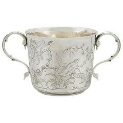 Antique 1910s Sterling Silver Porringer by Lambert & Co