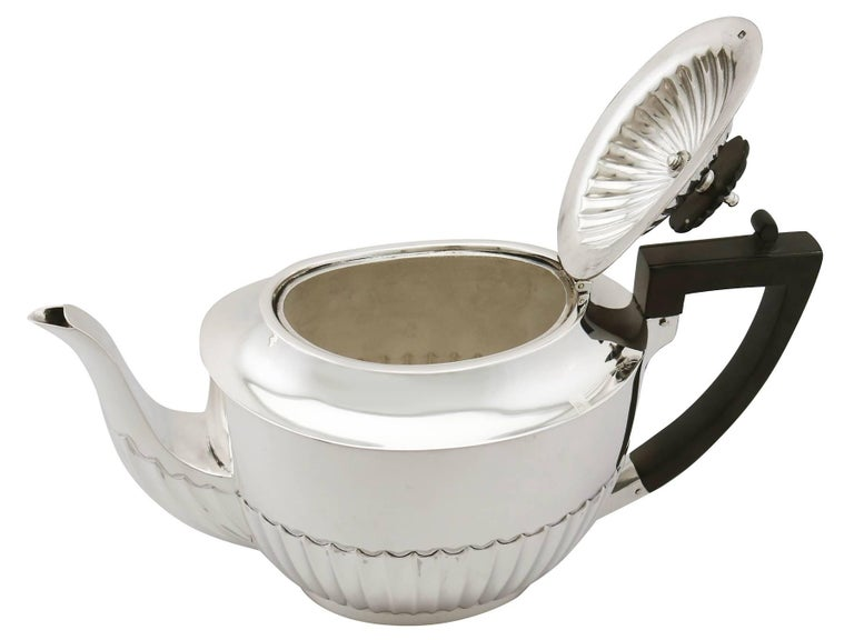 Antique 1910s Sterling Silver Three-Piece Tea Service For Sale 1