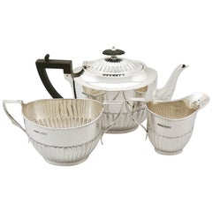 Antique 1910s Sterling Silver Three-Piece Tea Service