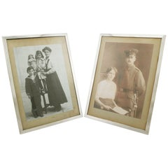Antique 1913 Pair of Sterling Silver Photograph Frames