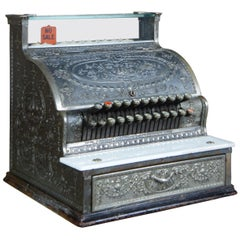Antique 1914 Model 333 NCR National Cash Register Ornate Embossed Brass