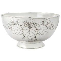 Antique 1917 Japanese Silver Presentation Bowl