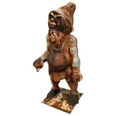 Antique 1920s Cast Iron Gnome