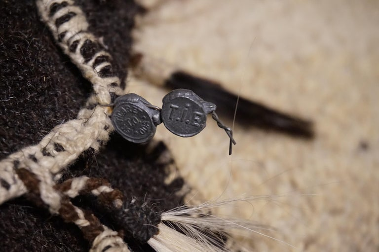 Antique 1920s Fine Turkish Saddle Bag Goat Hair with Decorative Tassels In Good Condition For Sale In Vancouver, British Columbia