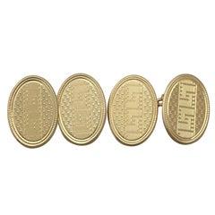 Antique 1920s Gentlemens 18 Karat Yellow Gold Cufflinks