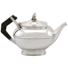 Antique 1920s Sterling Silver Teapot by Omar Ramsden