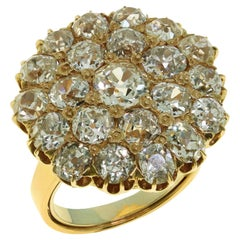 Antique 1930s Diamond Rose Gold Dress Ring