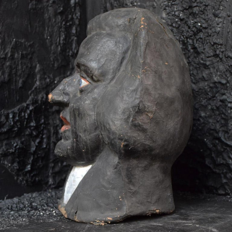 Antique 1930s Judge Theatre Papier Mâché Head from Paris For Sale 8