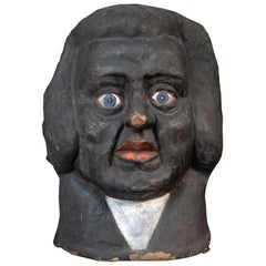 Antique 1930s Judge Theatre Papier Mâché Head from Paris