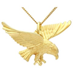 Antique 1930s Yellow Gold Eagle Necklace