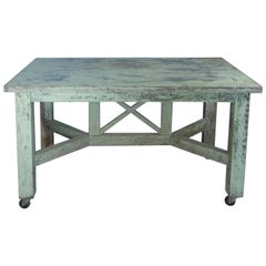 Antique 1940s Painted Country Table