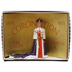 Antique 1953 Lead Toy HM the Queen Elizabeth II Coronation Rare Boxed Original