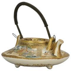 Antique 19th Century Japanese Satsuma Teapot Japanese Satsuma Ware