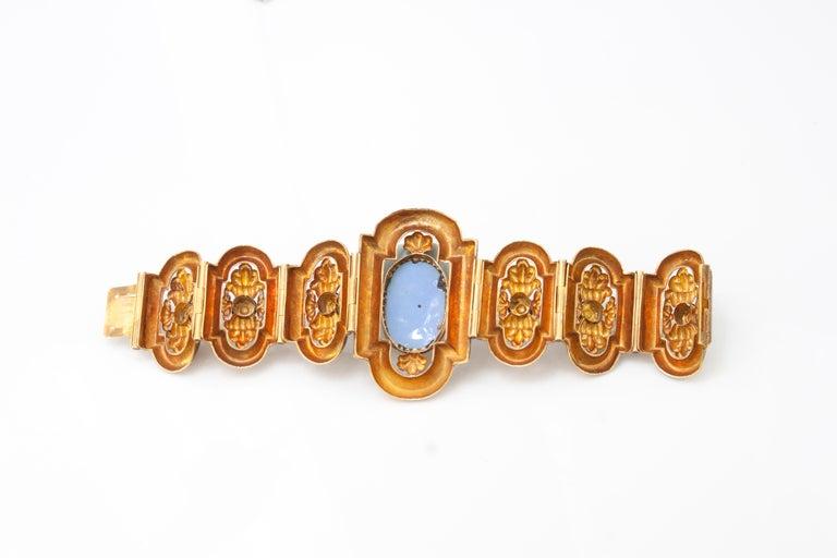 Women's Antique 19th Century 18 Karat Gold Bracelet, circa 1870s For Sale