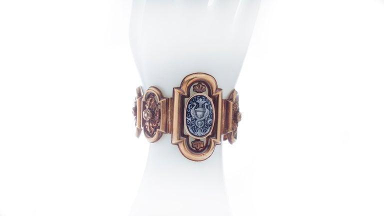 Women's Antique 19th Century 18 Karat Gold Bracelet, Depicting Cornucopia For Sale