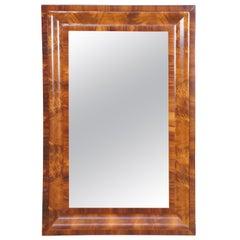 Antique 19th Century American Empire Flame Mahogany Rectangular Wall Mirror