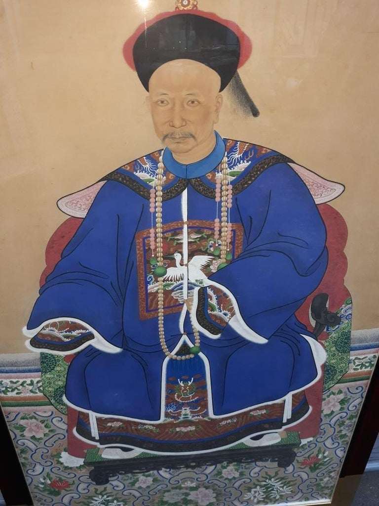 Antique 19th Century Ancestral Painting For Sale 4