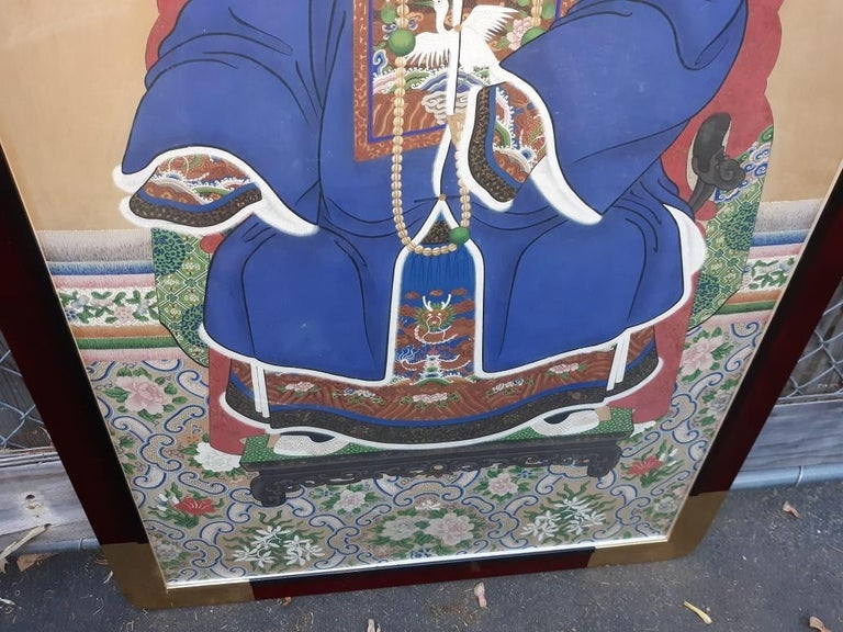 Antique 19th Century Ancestral Painting For Sale 1
