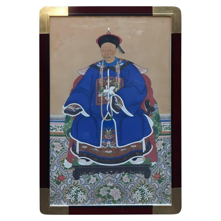 Antique 19th Century Ancestral Painting For Sale