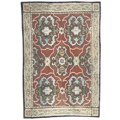 Antique 19th Century Aubusson Woven 18th Century Style Rug