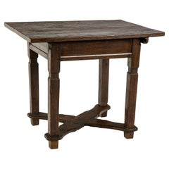 Antique 19th Century Austrian Bankers or Merchants Table in Warm Honey Color