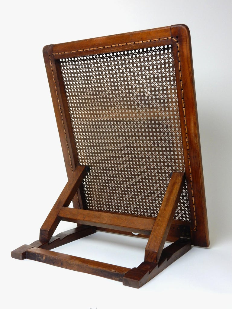 Antique 19th Century Beach Cane Lounge Backrest by J. Carter of London In Good Condition For Sale In Las Vegas, NV
