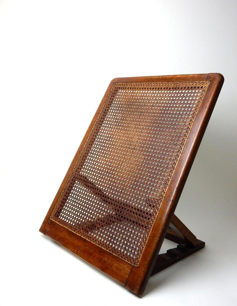 Oak Antique 19th Century Beach Cane Lounge Backrest by J. Carter of London For Sale