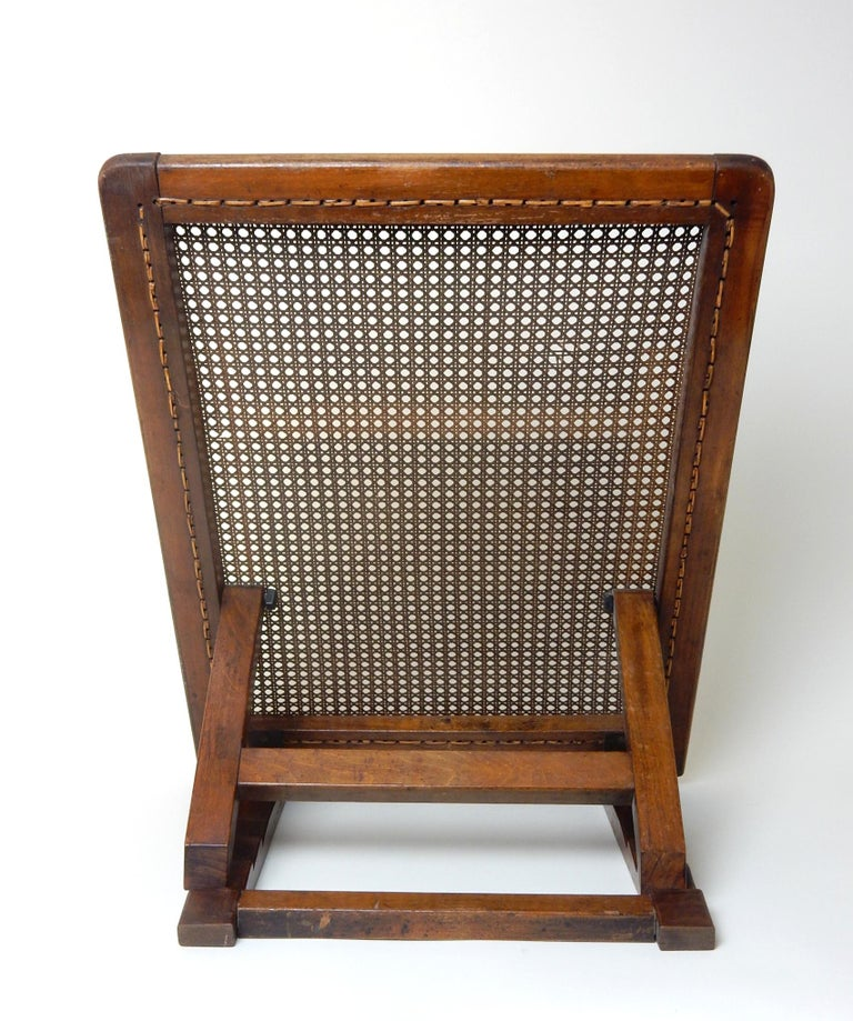 Antique 19th Century Beach Cane Lounge Backrest by J. Carter of London For Sale 1