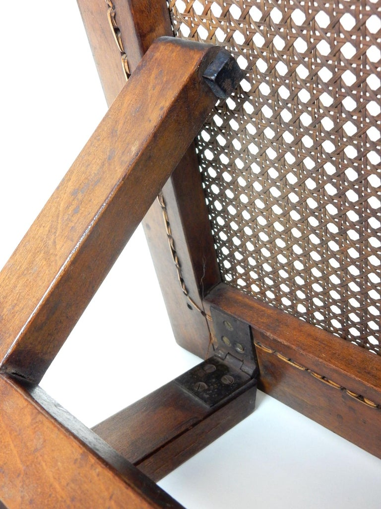 Antique 19th Century Beach Cane Lounge Backrest by J. Carter of London For Sale 2