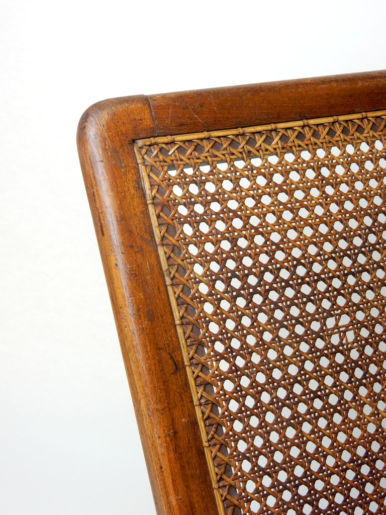 Antique 19th Century Beach Cane Lounge Backrest by J. Carter of London For Sale 4