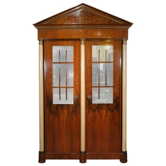 Antique 19th Century Biedermeier Cabinet with Fitted Interior