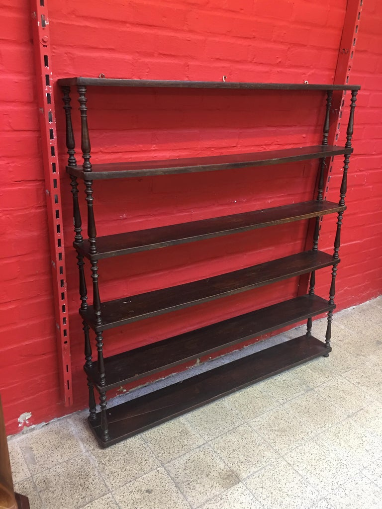 Antique 19th Century Bistro Shelf in Oak For Sale 2