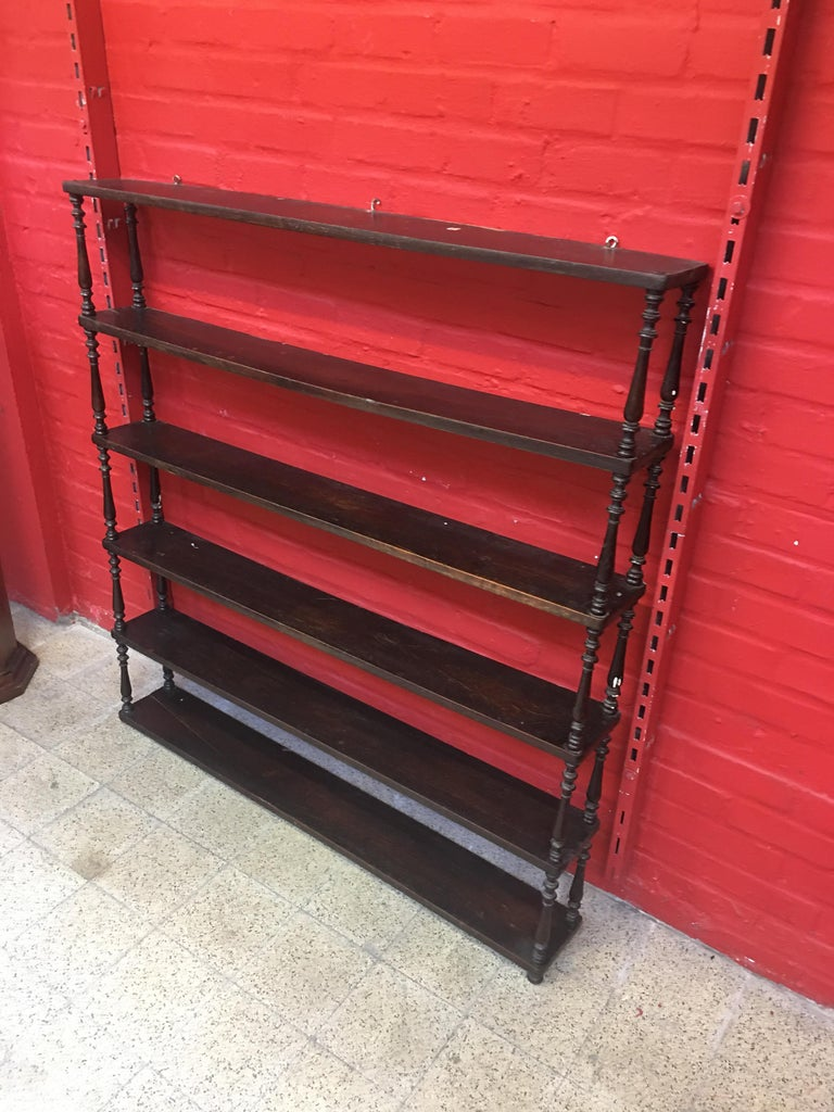 Antique 19th Century Bistro Shelf in Oak For Sale 4