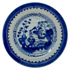 "Antique 19th Century ""Blue"" Canton Plate"