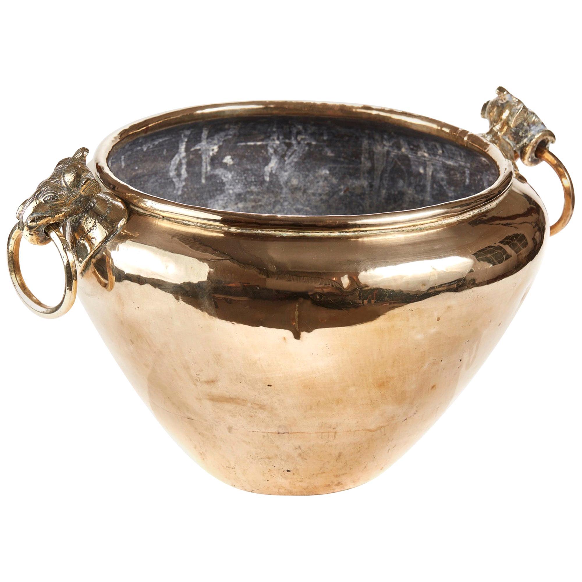 Antique 19th Century Brass Cauldron