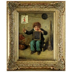 "Antique 19th Century by Frederick Pitts, Oil on panel painting ""Is it like"""