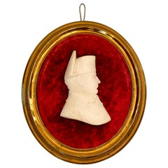Antique 19th Century Carved Alabaster Bust of Napoleon