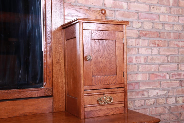 Antique 19th Century Carved Oak Dresser with Mirror For Sale 6