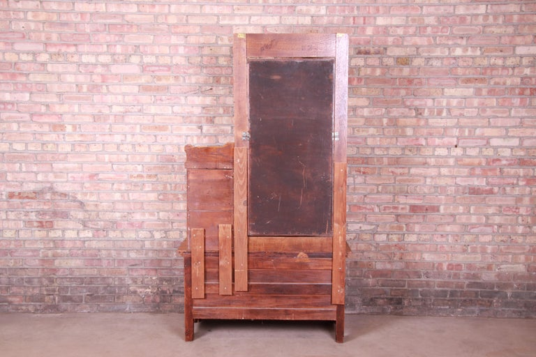 Antique 19th Century Carved Oak Dresser with Mirror For Sale 12