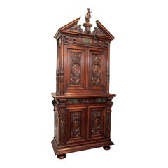 Antique 19th Century Carved Walnut Francois I Cabinet