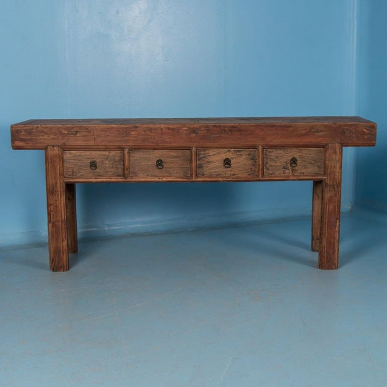 Antique 19th Century Chinese Console Table In Good Condition For Sale In Denver, CO