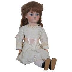 Antique 19th Century CM Bergmann Simon & Halbig Bisque Composite Girl Doll