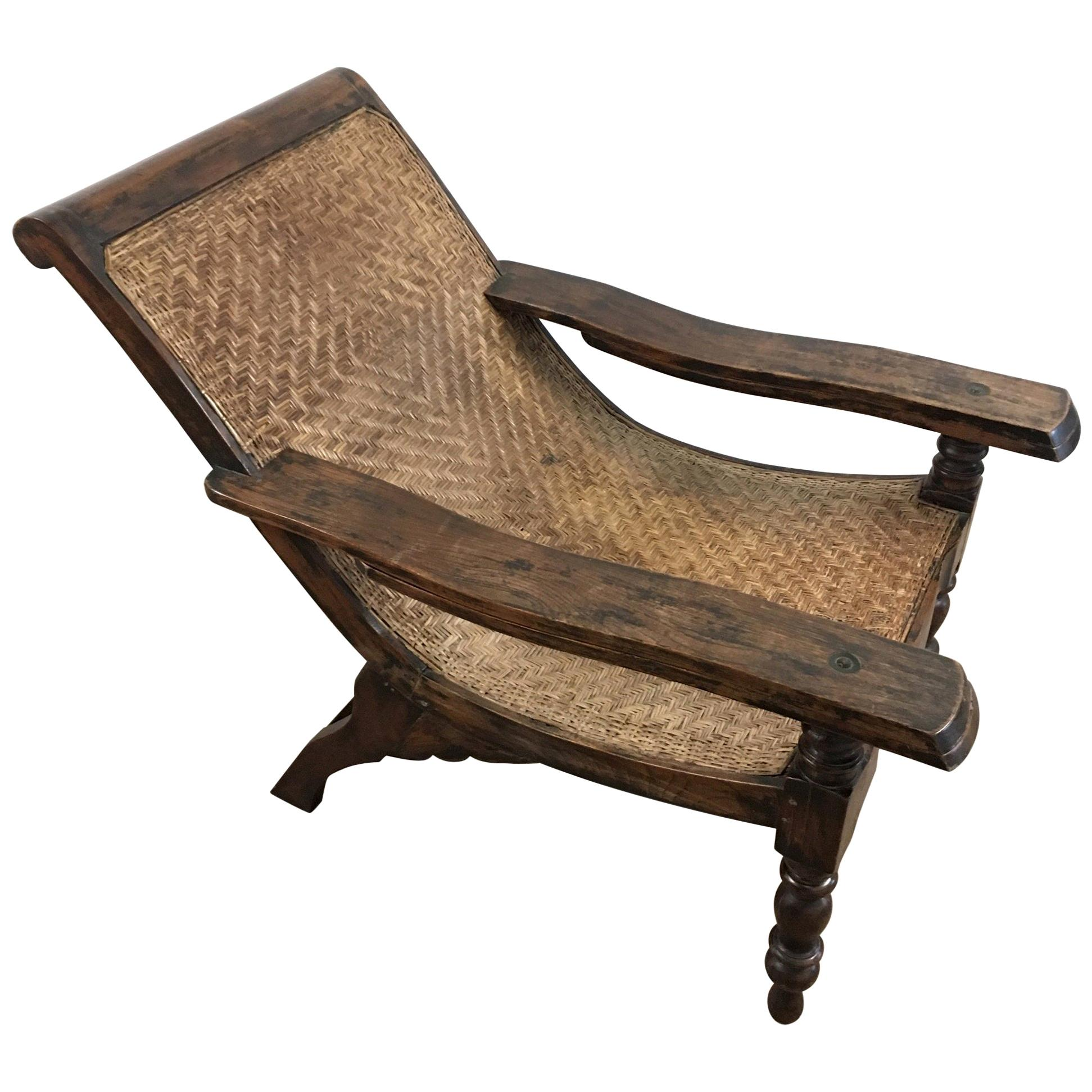 Stupendous Early 20Th Century Weathered Teak Colonial Plantation Lounger Chair Ocoug Best Dining Table And Chair Ideas Images Ocougorg