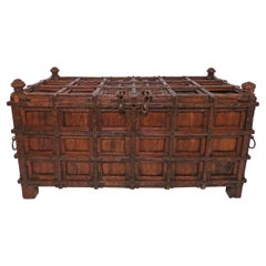 Antique 19th Century Damchiya Anglo-Indian Dowry Chest