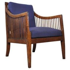 Antique 19th Century Danish Walnut Bergère Chair