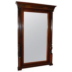 Antique 19th Century Distressed Mirror in Original Frame