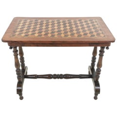 Antique 19th Century English Walnut Parquetry Side Table